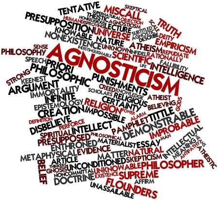 Abstract word cloud for Agnosticism with related tags and terms Stock Photo - 16633372