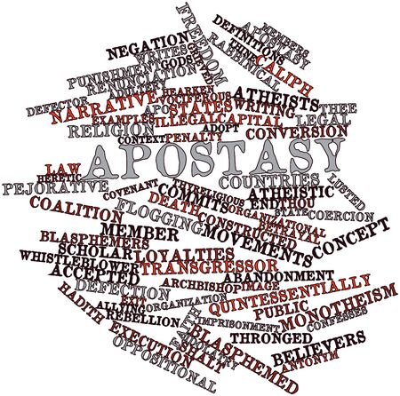Abstract word cloud for Apostasy with related tags and terms Stock Photo - 16633537
