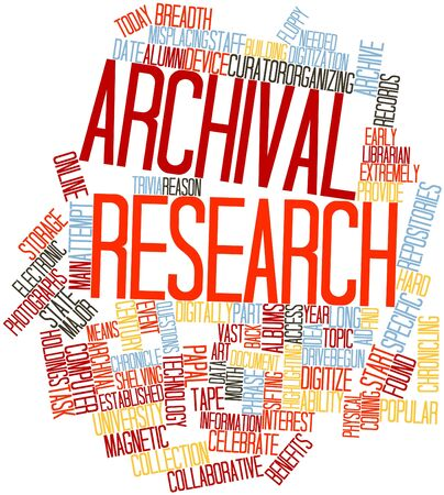 librarian: Abstract word cloud for Archival research with related tags and terms