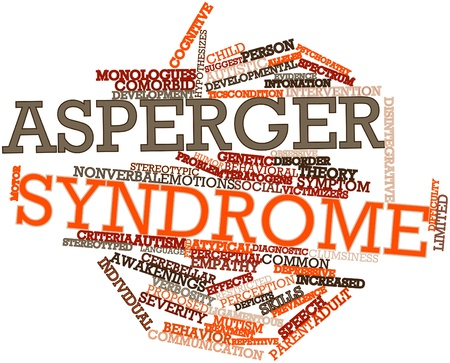 Abstract word cloud for Asperger syndrome with related tags and terms Stock Photo - 16632503