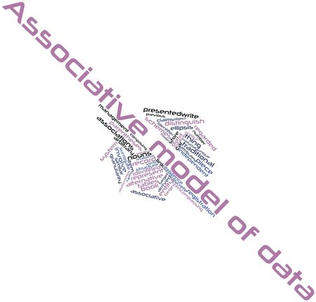 Abstract word cloud for Associative model of data with related tags and terms Stock Photo - 16629783
