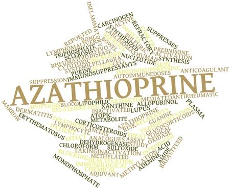 apoptosis: Nube palabra abstracta para Azatioprina con etiquetas y t�rminos relacionados