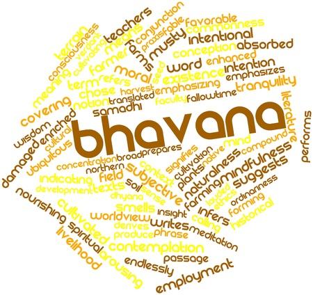 endlos: Abstraktes Wort-Wolke für Bhavana mit verwandten Tags und Begriffe Lizenzfreie Bilder