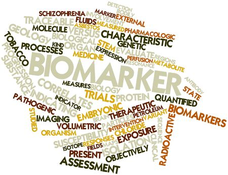 asbestos: Abstract word cloud for Biomarker with related tags and terms