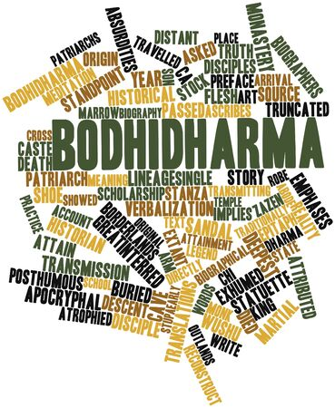 Abstract word cloud for Bodhidharma with related tags and terms Stock Photo