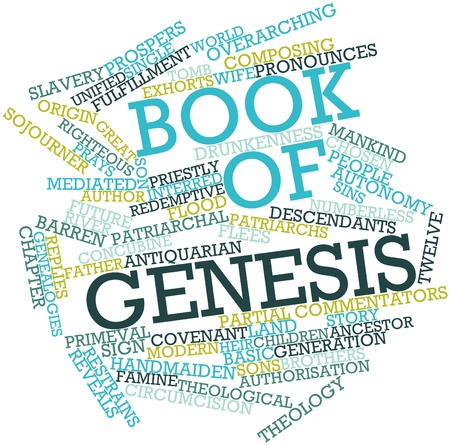 Abstract word cloud for Book of Genesis with related tags and terms Stock Photo - 16632872