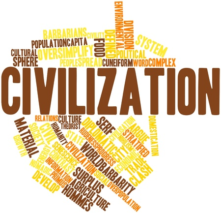 cuneiform: Abstract word cloud for Civilization with related tags and terms