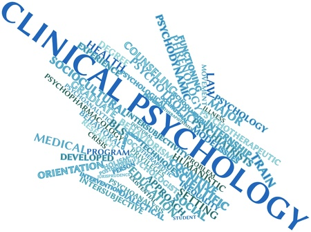 Abstract word cloud for Clinical psychology with related tags and terms
