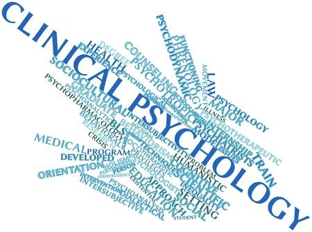 doctoral: Word cloud astratto per la psicologia clinica con tag correlati e termini Archivio Fotografico