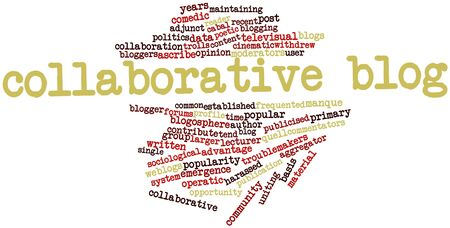 Abstract word cloud for Collaborative blog with related tags and terms Stock Photo - 16629804
