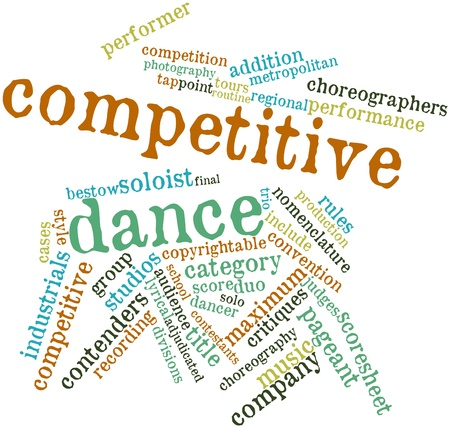 lyrical dance: Abstract word cloud for Competitive dance with related tags and terms