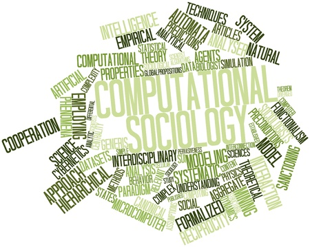 computational: Abstract word cloud for Computational sociology with related tags and terms