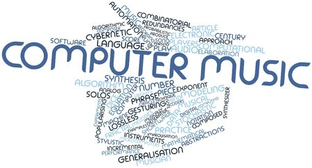 rote: Abstract word cloud for Computer music with related tags and terms