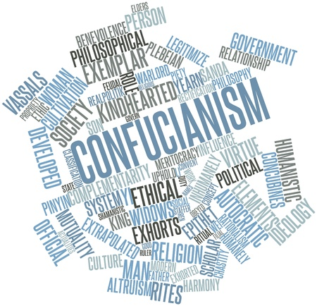 confucianism: Abstract word cloud for Confucianism with related tags and terms