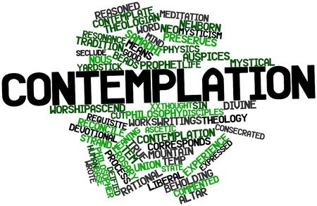 Abstract word cloud for Contemplation with related tags and terms Stock Photo - 16631198