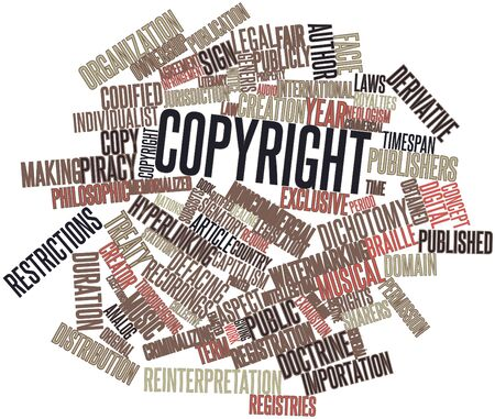 Abstract word cloud for Copyright with related tags and terms Stock Photo - 16633398