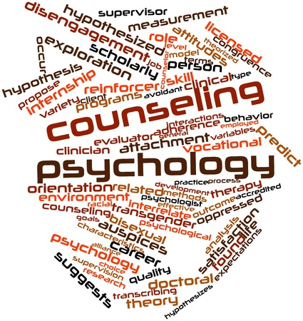 Abstract word cloud for Counseling psychology with related tags and terms Stock Photo - 16632867