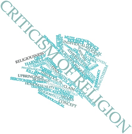 Abstract word cloud for Criticism of religion with related tags and terms Stock Photo - 16631311