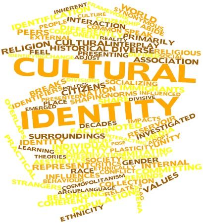 identidad cultural: Nube de palabras Resumen de la identidad cultural con etiquetas y términos relacionados