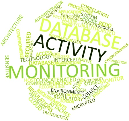 Abstract word cloud for Database activity monitoring with related tags and terms Stock Photo - 16631374
