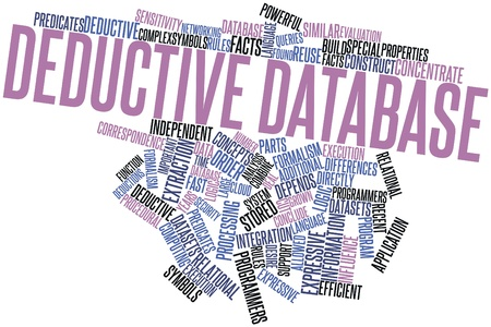 datasets: Abstract word cloud for Deductive database with related tags and terms