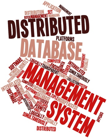 interrelated: Abstract word cloud for Distributed database management system with related tags and terms