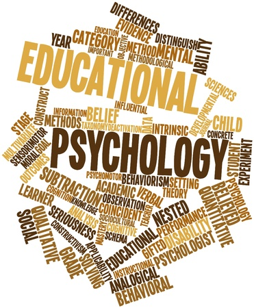 intrinsic: Abstract word cloud for Educational psychology with related tags and terms