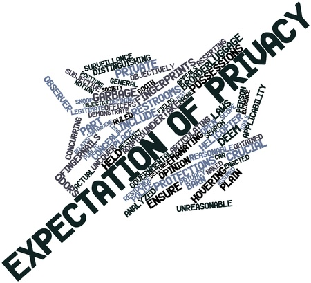 necessarily: Abstract word cloud for Expectation of privacy with related tags and terms Stock Photo