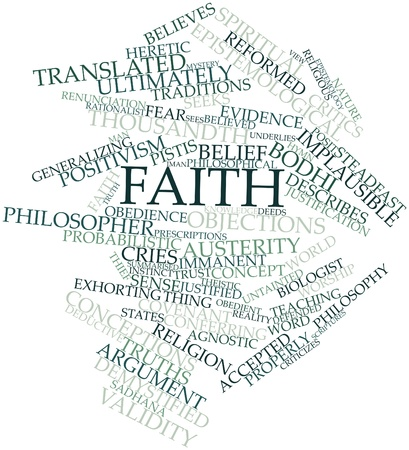 cries: Abstract word cloud for Faith with related tags and terms
