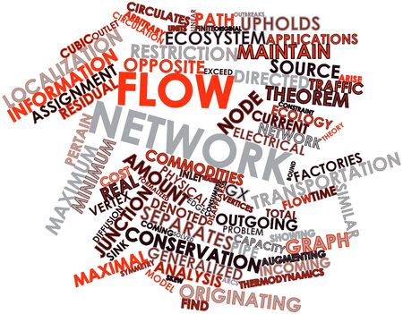 diameter: Abstract word cloud for Flow network with related tags and terms