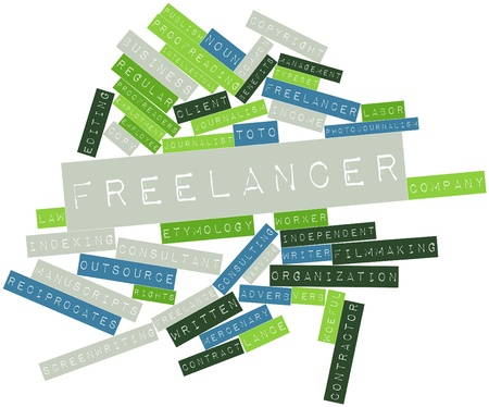 contributed: Abstract word cloud for Freelancer with related tags and terms Stock Photo