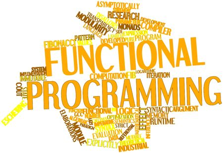 compiler: Abstract word cloud for Functional programming with related tags and terms Stock Photo