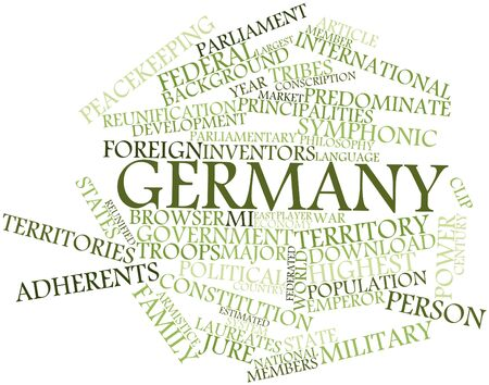 jure: Abstract word cloud for Germany with related tags and terms