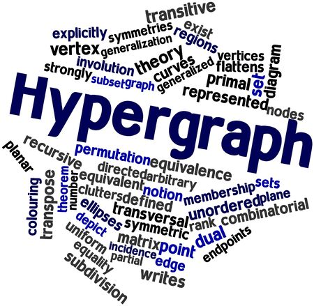 Abstract word cloud for Hypergraph with related tags and terms Stock Photo - 16631577
