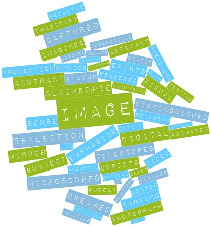 Abstract word cloud for Image with related tags and terms