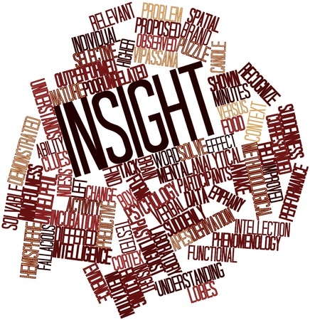 unrelated: Abstract word cloud for Insight with related tags and terms Stock Photo