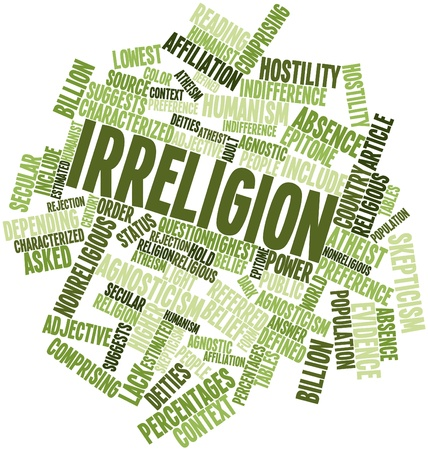 Abstract word cloud for Irreligion with related tags and terms Stock Photo - 16633138