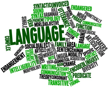 Abstract word cloud for Language with related tags and terms Stock Photo - 16632815