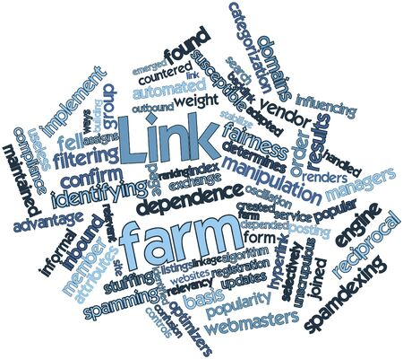 listings: Abstract word cloud for Link farm with related tags and terms