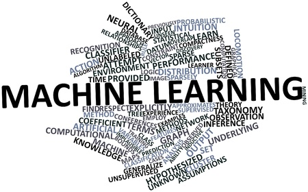previously: Abstract word cloud for Machine learning with related tags and terms Stock Photo