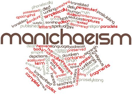 depictions: Abstract word cloud for Manichaeism with related tags and terms