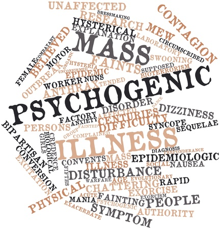 anthrax: Abstract word cloud for Mass psychogenic illness with related tags and terms