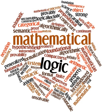 Abstract word cloud for Mathematical logic with related tags and terms