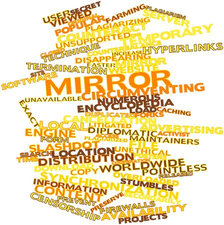 constraints: Abstract word cloud for Mirror with related tags and terms