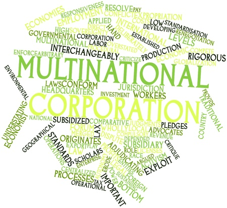 lax: Abstract word cloud for Multinational corporation with related tags and terms