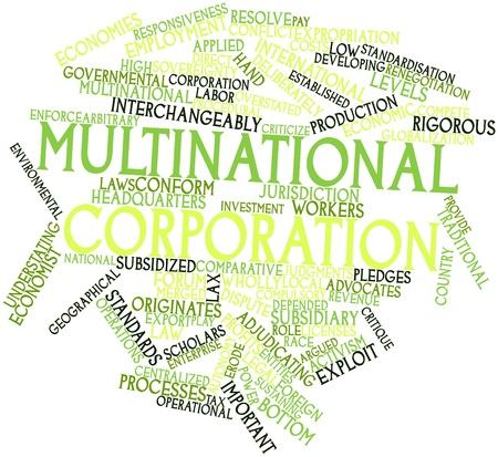 arbitrario: Nube palabra abstracta para corporación multinacional con etiquetas y términos relacionados