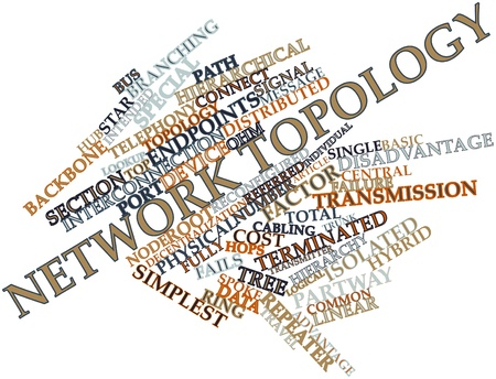 Abstract word cloud for Network topology with related tags and terms
