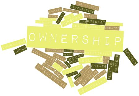 Abstract word cloud for Ownership with related tags and terms Stock Photo - 16629785