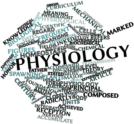 Abstract word cloud for Physiology with related tags and terms photo