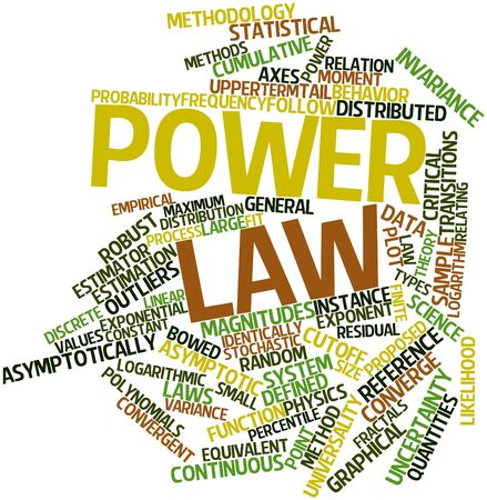 exceeds: Abstract word cloud for Power law with related tags and terms